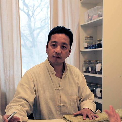 Dr Sherab Tenzin Barma in Himalaya Clinic