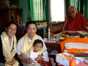 Dr Sherab Tenzin with family