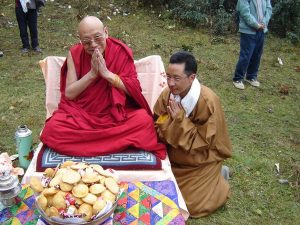 Dr Sherab visiting Rinpoche