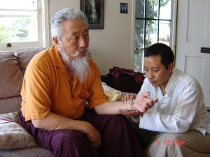 Dr Sherab Tenzin with pacient