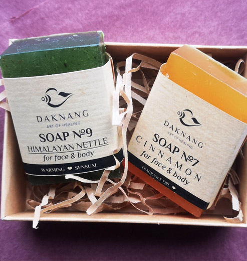 Himalaya nettle soap and Cinnamon soap set