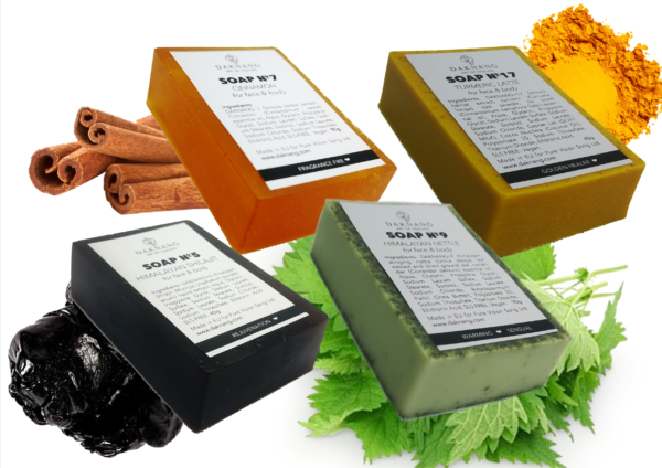 Handcrafted Herbal <b> Soap Box (4 units) </b>